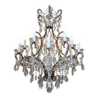 Antique 12-Light French Chandelier For Sale