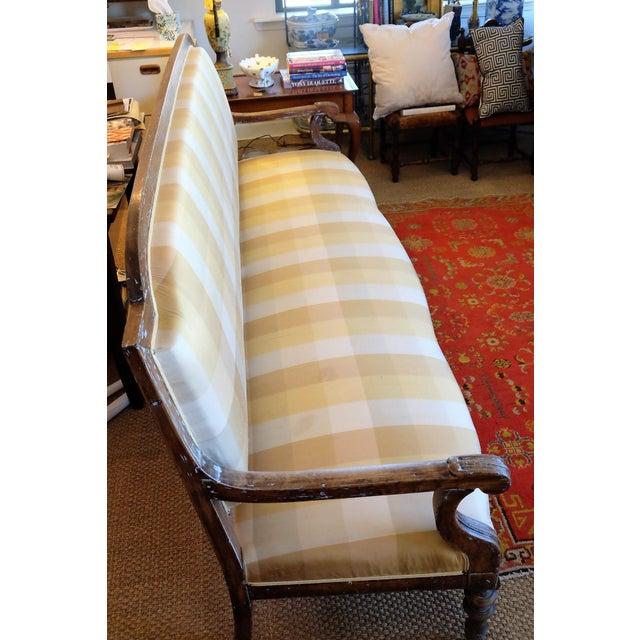 Large French Provincial Upholstered Sofa For Sale - Image 5 of 6