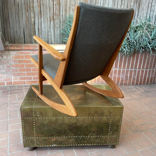 Mid-Century Modern 1950s Vintage Danish Georg Jensen Tønder Møbelværk Teak Rocking Chair For Sale - Image 3 of 10