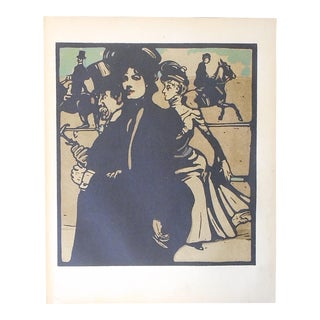 Antique Lithograph-London Types-At the Races For Sale