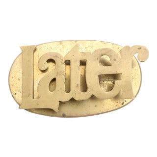 "Large Vintage Bass Paper clip or Paper Weight ""Later"" For Sale"