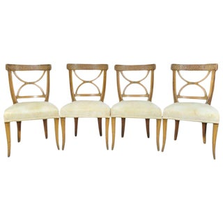 1950s Vintage Italian Neoclassical Style Dining Chairs - Set of 4 For Sale