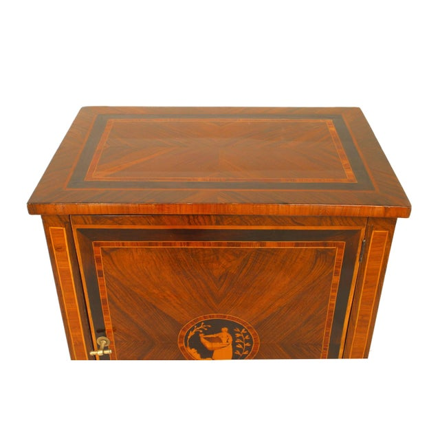 Neoclassical Turn of the 19th C. Italian Neoclassical Small Inlaid Commode For Sale - Image 3 of 5
