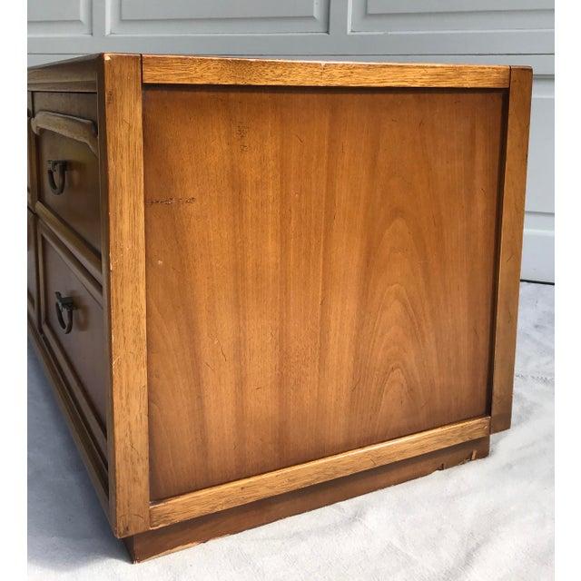 Mid-Century Modern Drexel 4 Drawer Low Boy Dresser For Sale - Image 11 of 13
