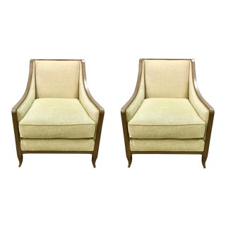Caracole Social Butterfly Club Chairs - A Pair For Sale