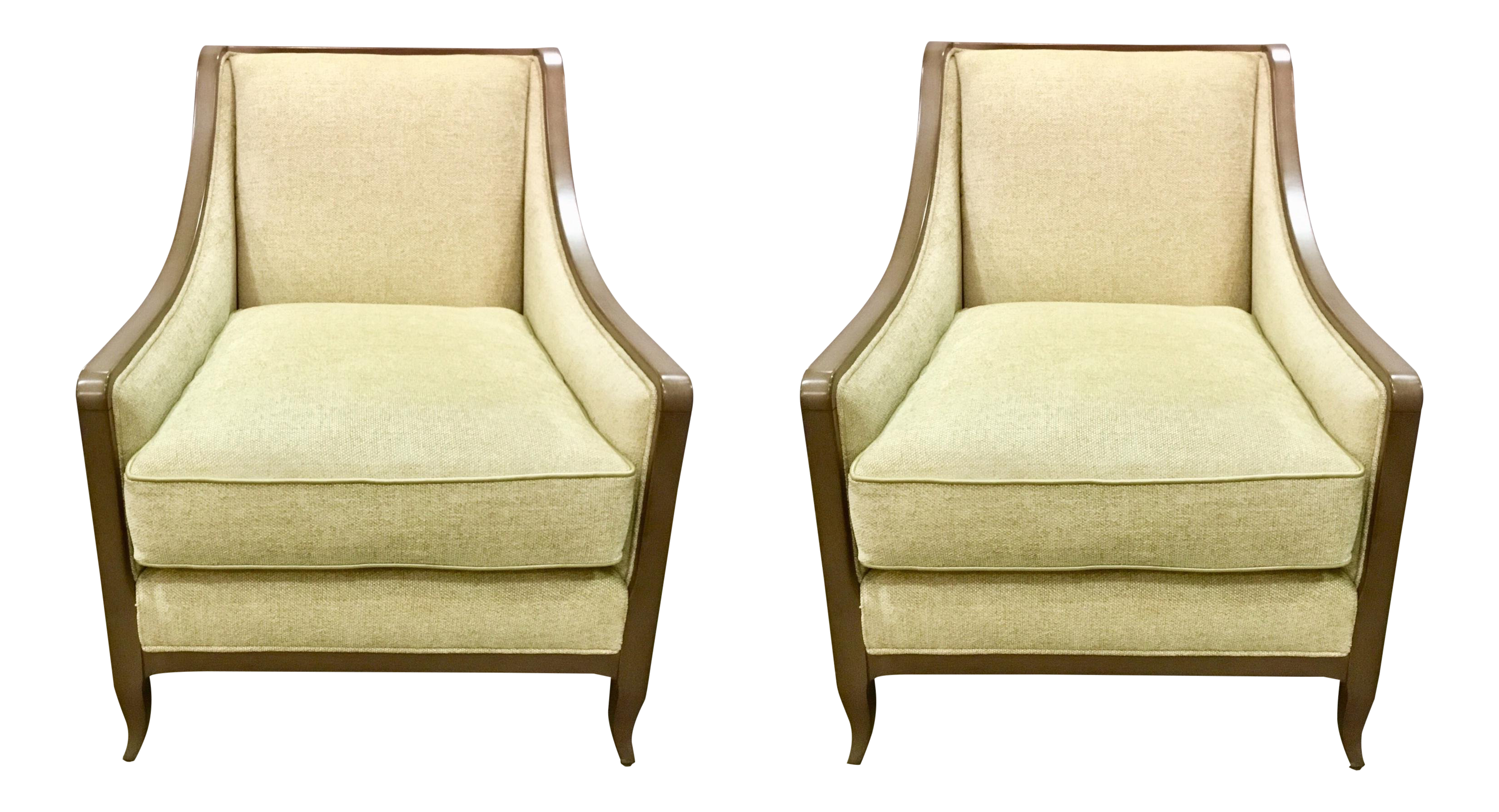 Caracole Social Butterfly Club Chairs   A Pair For Sale
