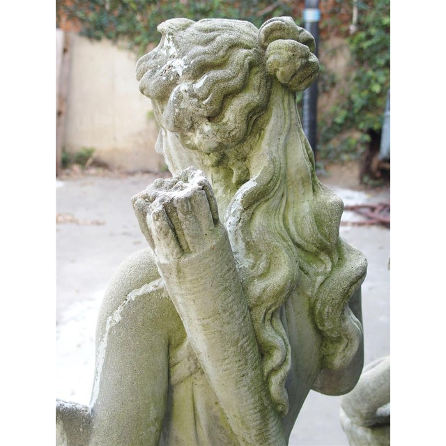 Pair of 20th Century French Statues Representing Apollo and Diana For Sale - Image 11 of 13