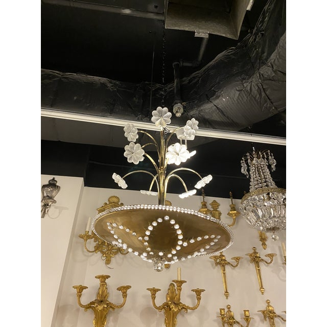 Metal 1930s French Bagues Light Fixture For Sale - Image 7 of 10