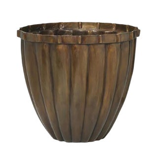 Brass Pillow Planter With Bronze Patinated Finish For Sale