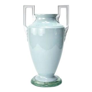 Ceramic Handled Urn Vase For Sale