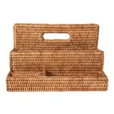 Image of Artifacts Rattan Standing Stationary Sorter in Honey Brown For Sale