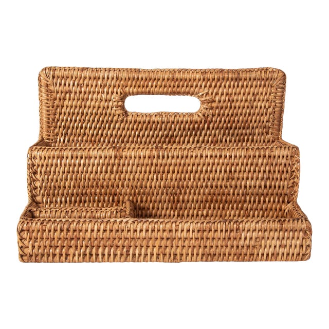 Artifacts Rattan Standing Stationary Sorter in Honey Brown For Sale