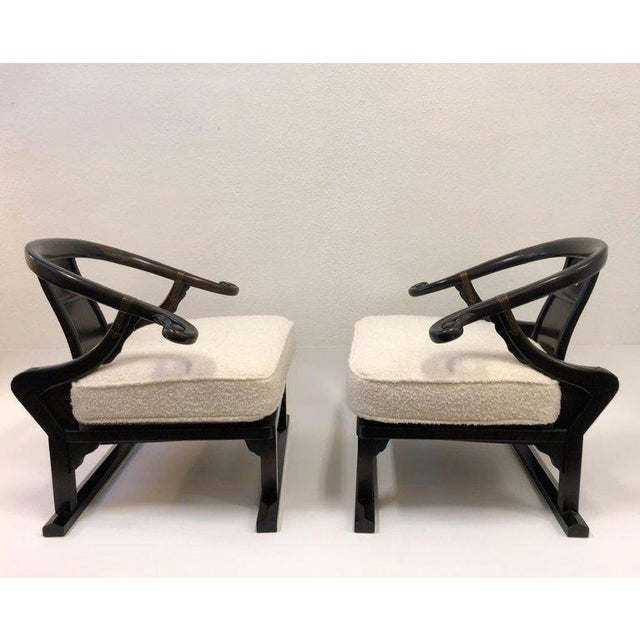 Michael Taylor for Baker Walnut Lounge Chairs - a Pair For Sale - Image 10 of 11