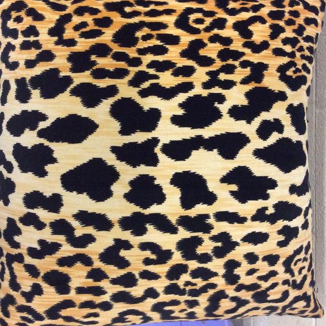 Textile Velvet Leopard Print Pillows - A Pair For Sale - Image 7 of 8