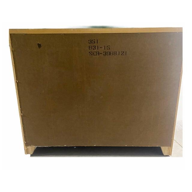 Postmodern Vintage 1980s Lane Furniture Postmodern Cream Cabinet For Sale - Image 3 of 5
