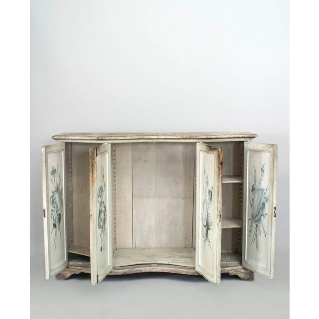 Neoclassical Pair of Italian Neoclassical Grisaille Painted Commodes For Sale - Image 3 of 7