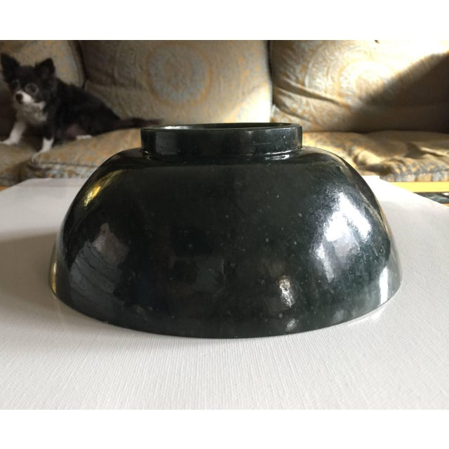 Mid 19th Century 19th Century Antique Chinese Jade Bowl For Sale - Image 5 of 6