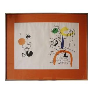 """Derriere Le Miroir"" Lithograph by Joan Miro For Sale"