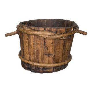 19th Century Primitive Folk Art Wooden Measuring Container