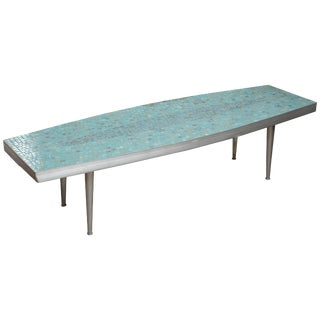 Fun Surfboard Style Tile Coffee Table, 1960s, Usa For Sale