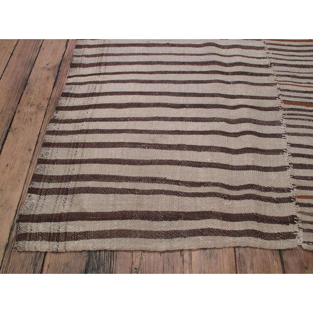 Traditional Striped Kilim For Sale - Image 3 of 6
