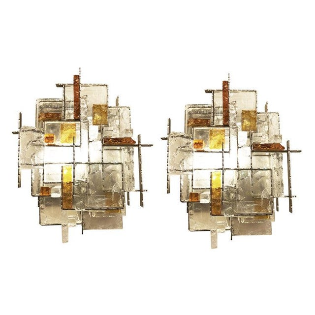Poliarte Brutalist Wall Lights by Poliarte - a Pair For Sale - Image 9 of 9