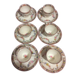 1970s Vintage Minton English Demitasse Cups and Saucers - 12 Pieces For Sale