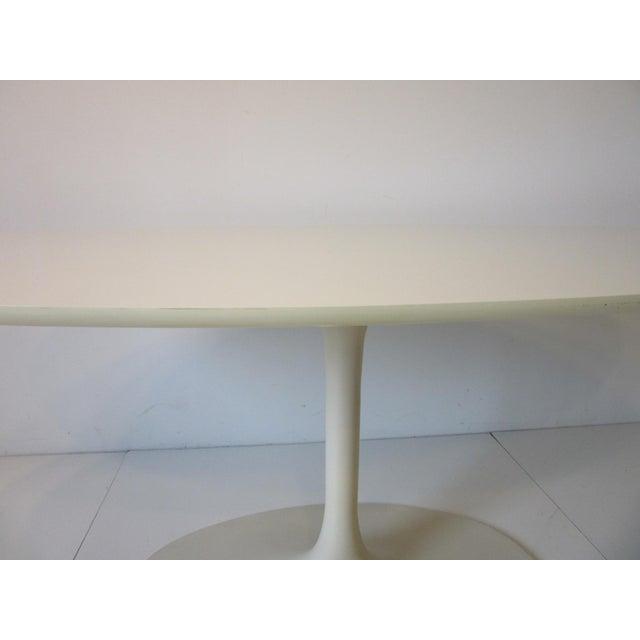 White Burke Tulip Desk / Dining Table for Burke International For Sale - Image 8 of 11