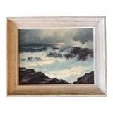 Image of Vintage Original Seascape Painting Signed 1960's For Sale