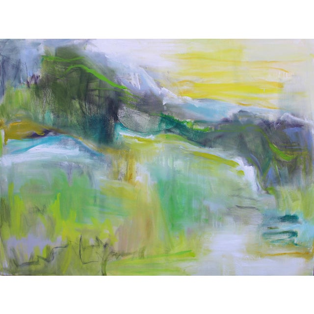 """""""Rocky Mountain Morning"""" by Trixie Pitts Large Abstract Landscape Oil Painting For Sale - Image 9 of 10"""