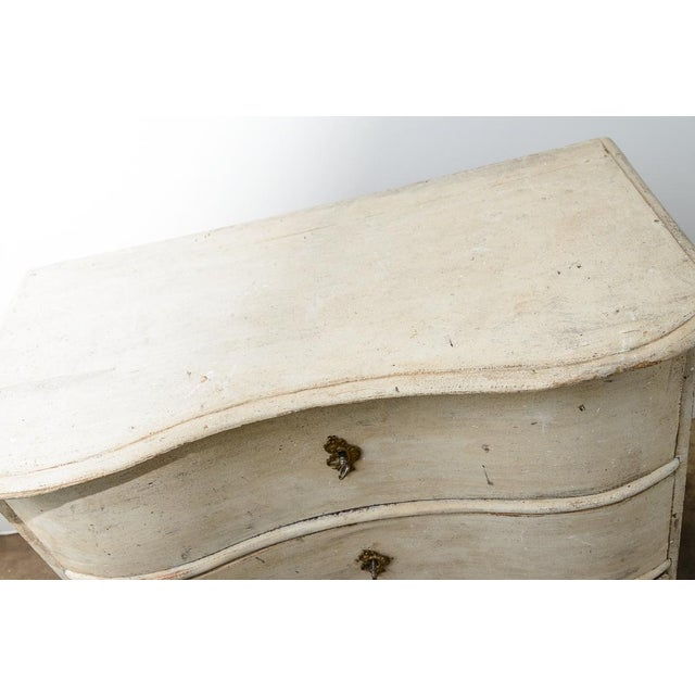 Wood Antique 18Th. C. Swedish Painted Wood Three Drawer Chest, Gustavian For Sale - Image 7 of 13