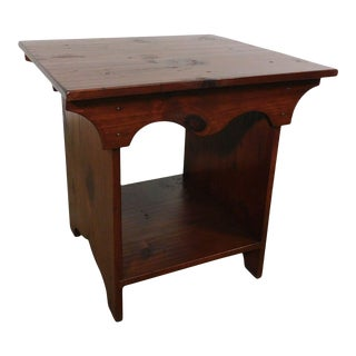 Patricia of Mulica - Hill Country Pine Custom 2 Tier Side Table For Sale