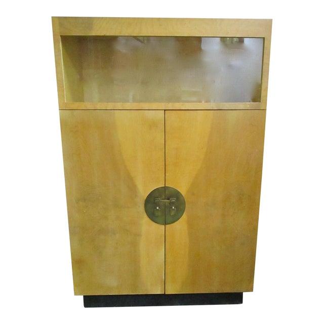 Burlwood Bar Liquor Cabinet - Image 1 of 5