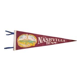 Nashville Tenn. Felt Flag