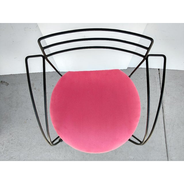 Fabric Pascal Mourgue, Twist Chair, 1985 For Sale - Image 7 of 10