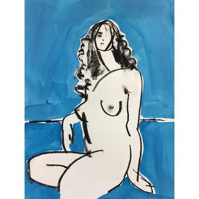Heidi Lanino Ali in Blue 3 Drawing by Heidi Lanino - 16 X 12 For Sale - Image 4 of 4
