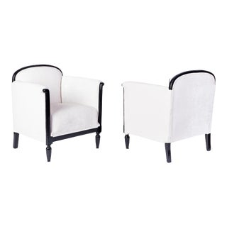 Exceptional Early Art Deco Pair of Armchairs