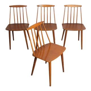 1960s Vintage Folke Palsson for Fdb Mobler Danish Chairs- Set of 4 For Sale