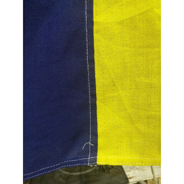 Vintage Sailing Signal Flag For Sale - Image 4 of 11