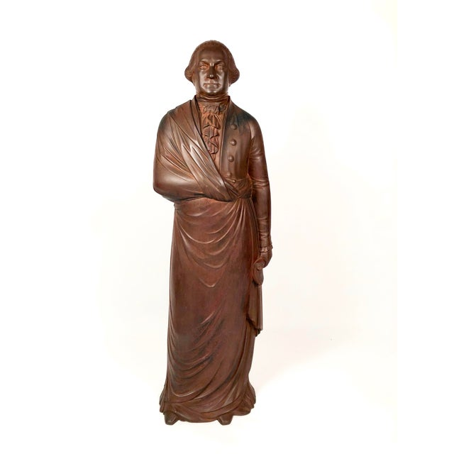 Large 19th Century George Washington Cast Iron Stove Figure For Sale - Image 11 of 13