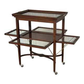 Art Decó French Neoclassical Mahogany Showcase Tea Table or Serving Table, 1920s For Sale