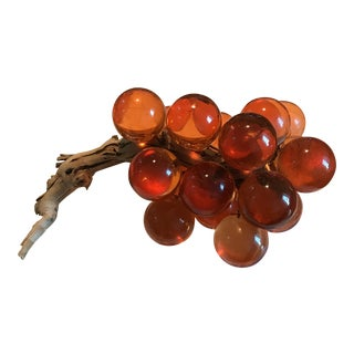 Mid-Century Bunch of Orange Lucite Grapes