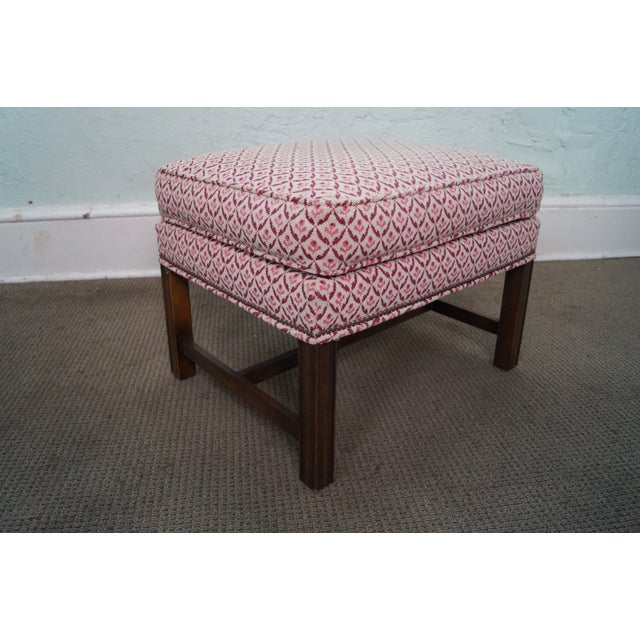 Baker Furniture Co Chippendale Style Ottoman - Image 4 of 10
