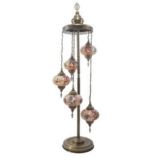 Turkish Handcrafted Multi Globe Mosaic Floor Lamps