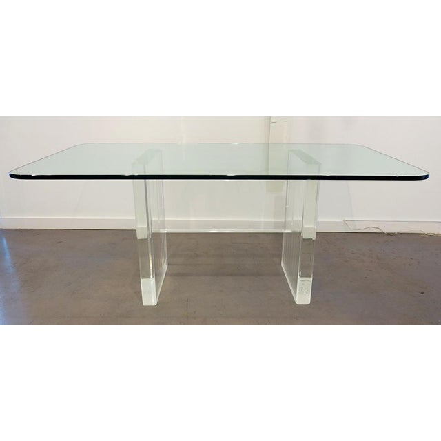 1970's Lucite Executive Desk / Dining Table For Sale - Image 13 of 13