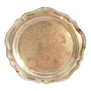 Antique W & S Blackinton Fine Silver Plated Three Footed Serving Tray Signed & Marked For Sale