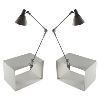 Pair of Stilnovo Clamp Lamps For Sale
