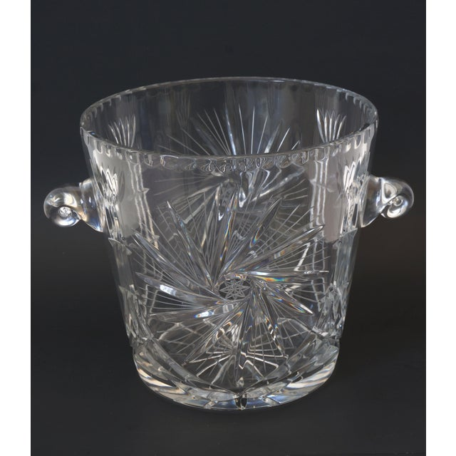 Vintage Pressed Lead Crystall Ice Bucket from a Palm Beach estate