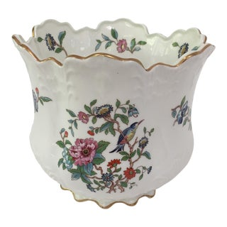 English Bone China Cachepot For Sale