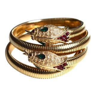 1960s Trifari Snake Bracelet- Set of 2 For Sale